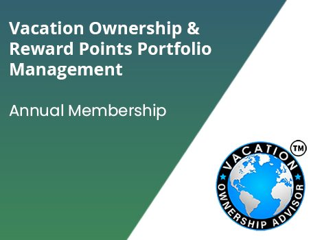 Vacation ownership and reward points portfolio managemnet - Annual Membership